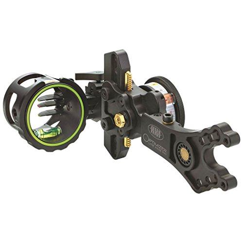 HHA Optimizer King Pin Sight 3510 3 Pin .010 RH Archery Equipment, Black