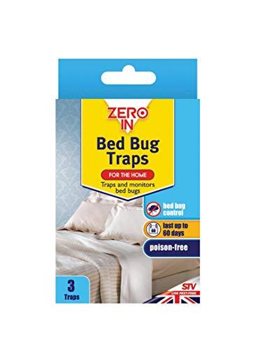 Paquete de 3 trampas para chinches mata insectos sin veneno solución de control de insectos antiácaros alfombra escarabajo 60 días protección hogar fuerte duradero resistente