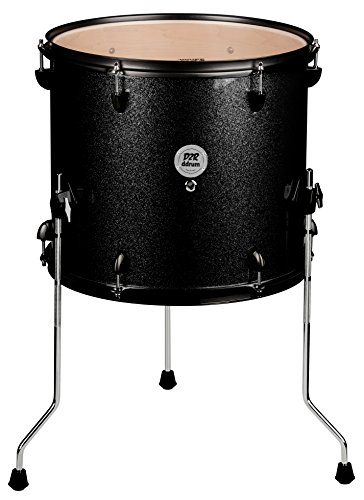 ddrum D2R FT 12X14 BLK SPKL Series Sparkle Floor Tom Drum Set, Black
