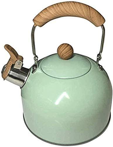 SKYEI Kettle Sensación de Cuartos de galón de Cuartos de galón de Acero Inoxidable Tetera Tetera Top Poteouswares Tea Pot 2L Taza de té