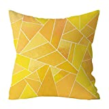 HHOME Fashion Polyester Geometric Cushion Yellow Pineapple Pillow Decorative Cushion For Sofa DIY Printed Pillow Seat Chair Cushion,N10919D