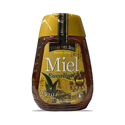 Miel de Eucalipto| Miel de Abeja Pura| Suplemento Alimenticio Fabricado en España| 100{dba43a627489e6e9d88f7593a4e55279f937b80d228d8b7e9b511b59e1cfca8a} Natural| Energía y Vitalidad| Miel de Flores Hijas del Sol| 250g