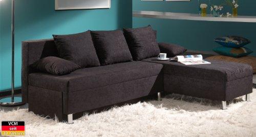 VCM Ecksofa Sofa Couch Schwarz