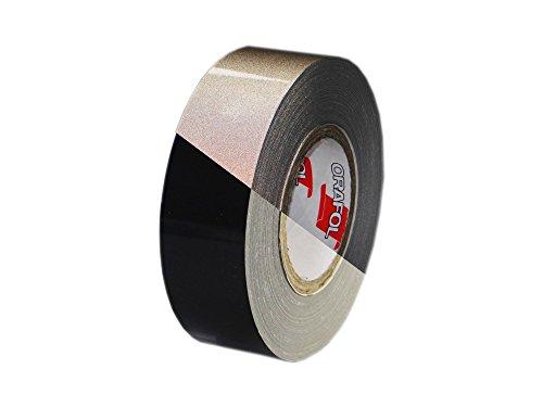 Orafol Reflexband   Reflektorband, schwarz, Typ 1, 50 mm breit x 10 Meter, Rollenware