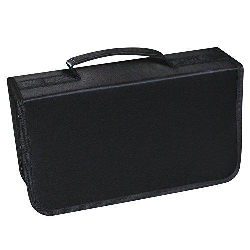 Yier - Funda para CD y DVD portátil, resistente para almacenamiento de...