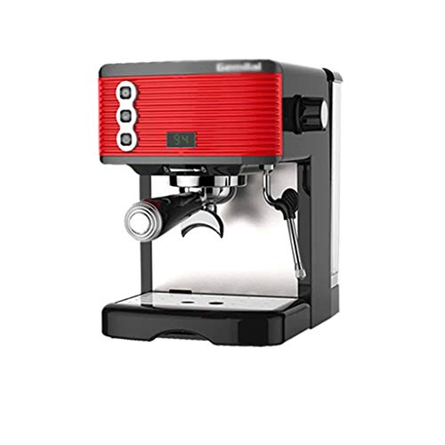 Coffee Machine High Capacity Semi Automatic Coffee Machine Home Office Small Espresso Coffee Maker with Milk Frother Freshly Ground One Machine Espresso Machines (Color : Red)