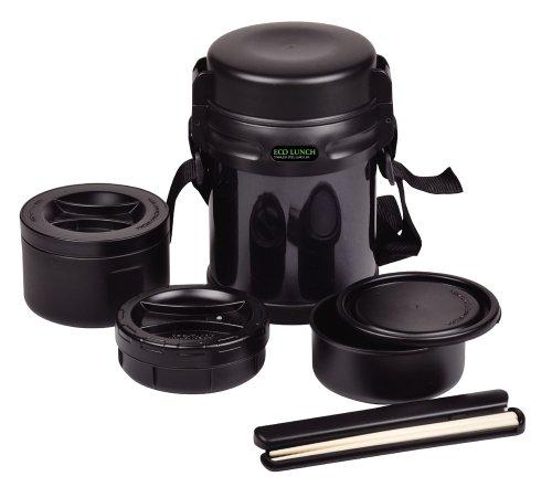 Perle Eco d?jeuner ? double d?jeuner inoxydable pot 1600 Noir HB-253 (Japon import / Le paquet et le manuel sont ?crites en japonais)