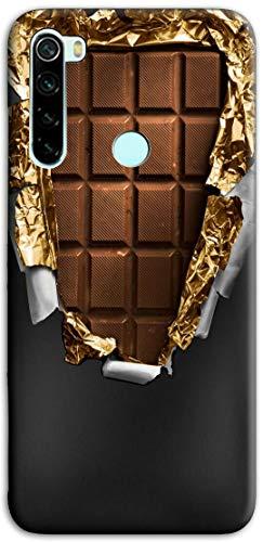 Mixroom - Cover Custodia Back Case in TPU Silicone Morbido per Xiaomi Redmi Note 8T Fantasia Tavoletta di Cioccolata Y386