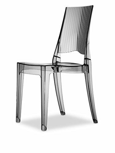 Set 4 sedie Glenda Colore Fumè trasparente