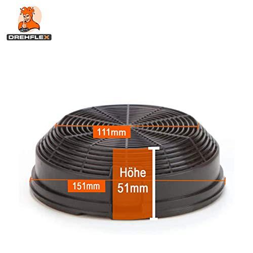 DREHFLEX® – Kohlefilter / Aktivkohlefilter – passend für Bauknecht-Whirlpool – Elica – AMC023 – passend für 481248048212 ersetzt 480122102341 - 2