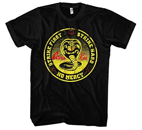 Cobra Kai Männer und Herren T-Shirt | Spruch Dojo Karate Kid MMA Geschenk | M4 (XXL, Schwarz)