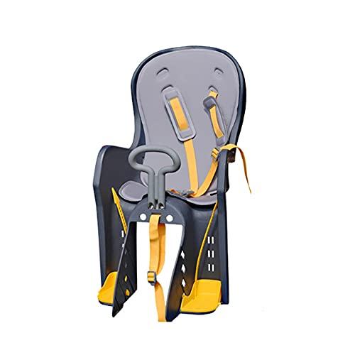 TRFBC Seggiolini Bici Bambini Posteriore per Bambini di 1.5–6 Anni Fino a 25 kg (55lbs) Accessori per Bici da Viaggio per Bambini All'aperto Seggiolino di Sicurezza per Bambini PPGE Home,Grigio
