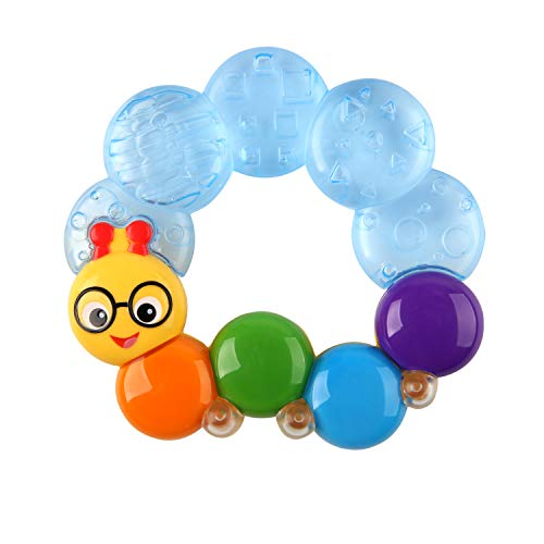 Baby Einstein, Teether-Pillar Rattle and Chill Teething Toy, Ages 3 Months +