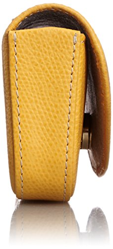 [キタムラ]メガネケースキズが目立ちにくい素材PH0314マスタード/アイボリーステッチ[黄色]43911