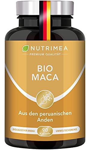 MACA BIO aus PERU | Reines Maca Wurzel-Extrakt | 100{0000a8f372aa2e3c560e14df4fef4020adfb7fcf0783b16373fd7f1a513e95e6} Vegan + OHNE Zusätze | 1500 mg/Tag Pflanzliche Pulver Kapseln Hochdosiert SUPERFOOD Energie Kraft Muskelaufbau Ausdauer Frauen Männer