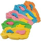Baby Badeschwamm Sitzschwamm Badeunterlage Für Babys ab der Geburt Gr. MAXI inkl. Waschschwamm (2 Stück) (Orange)