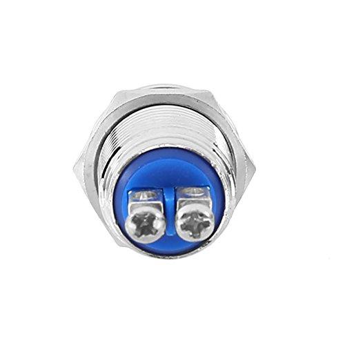Interruptor, pulsador eléctrico estanco, interruptor de arranque, metal 12 mm para circuitos...