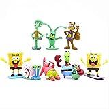 8 Piezas/Juego de Dibujos Animados de Bob Esponja, Estrella de Patricio, marioneta móvil, Modelo de colección de muñecos de Juguete, Juguetes de Personajes