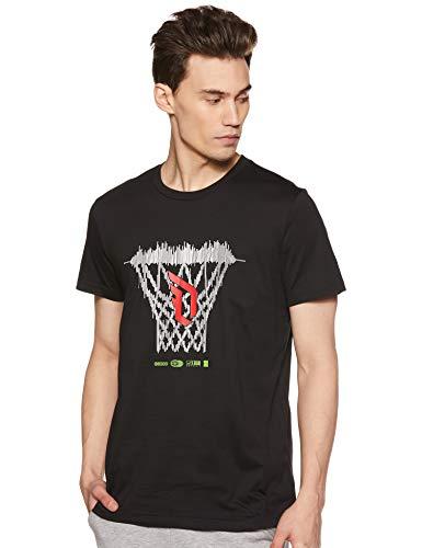 adidas Dame Logo tee Camiseta de Manga Corta, Hombre, Black, L