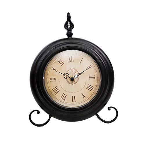 YITIANTIAN Relojes de Escritorio Personalidad Creativa Home Desktop Metal Table Reloj Clock Dormitorio Escritorio Modelo Habitación Tabla pequeña Reloj Reloj de Cama Silencioso