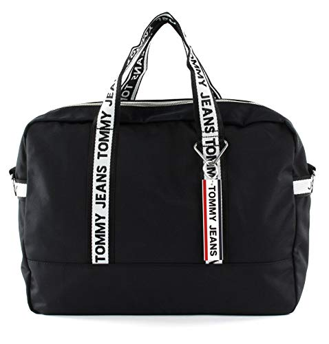 Tommy Hilfiger TJM Logo Tape Computer Bag Black