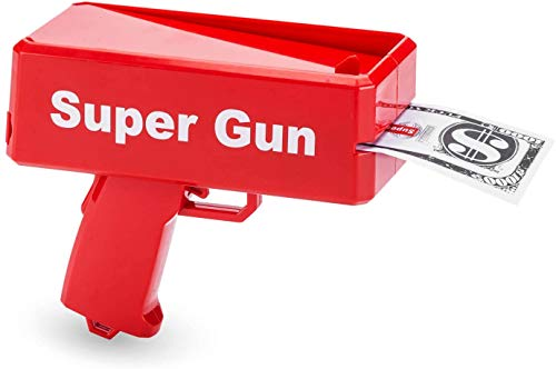 Super Money Gun Toy Money Gun Party Revolver schiet nep-dollarbankbiljetten voor Supreme Fun