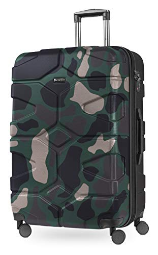Hauptstadtkoffer - X-Kölln - Set of 2 Hard-side Luggages Trolley Expandable Suitcase 4 Wheel Spinner, TSA Lock, (S/L), Camouflage