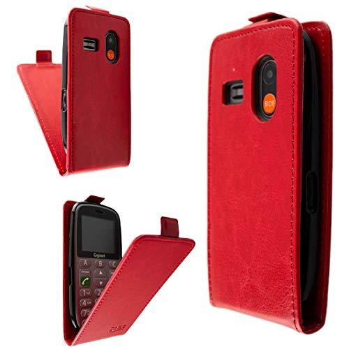caseroxx Flip Cover für Gigaset GL390, Tasche (Flip Cover in rot)
