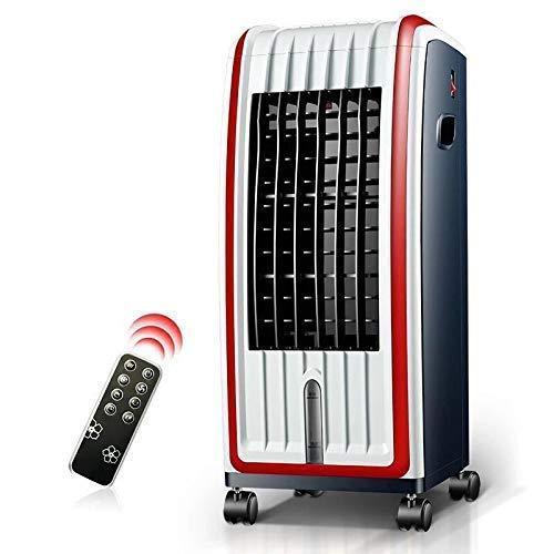 Enfriador de Aire evaporativo con Calentador de Ventilador, Temporizador de 12 Horas, Control Remoto, 3 Niveles de Velocidad con oscilación, Tanque de Agua de 6 l