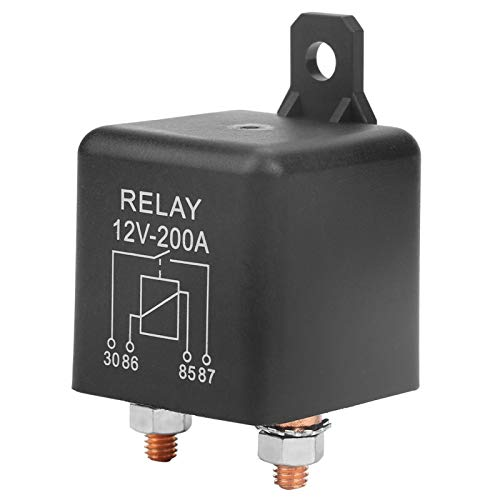 Relé de interruptor de encendido/apagado de 4 pines normalmente abierto WM686 DC 12V 200A Relé de arranque de control de batería para batería de control