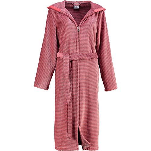 Michaelax-Fashion-Trade Cawö - Damen Bademantel mit Kapuze in versch. Farben (6432), Größe:48, Farbe:Rot (27)