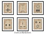 ArtWallz Nikola Tesla - Juego de 6 Impresiones de Patentes (8 x 10 Pulgadas), Regalos de ingeniería, Geek Home Decor
