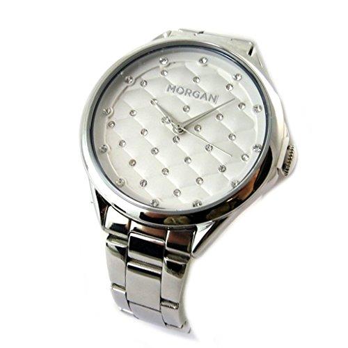 Morgan [N9865] - Designer-Uhr 'Morgan' Silber (Beleuchtung).