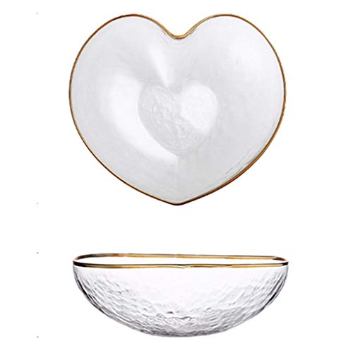 Qazxsw Glass Bowl/Small Fruit Bowl/Transparent Salad Bowl That You Can Enjoy/Household Mixing Bowl,Clear,15cm