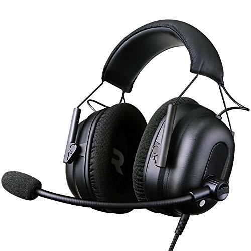 DLSMB Casques Gaming pour PC Virtual Surround 7.1 Casque Gaming Universel for PS4 Xbox Ordinateurs (Color : Black, Size : M)