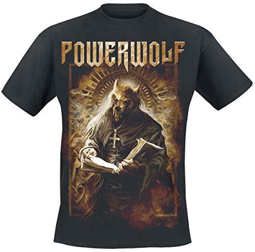 Powerwolf Stossgebet Männer T-Shirt schwarz L 100% Baumwolle Band-Merch, Bands