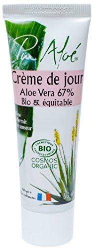 Pur Aloé Crème de Jour à l'Aloe Vera Vivant 67% Bio 50 ml
