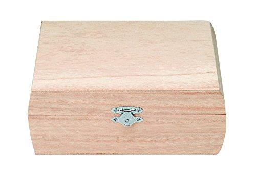 Glorex 6 1682 900 - Holzbox aus Kiefernholz, quadratisch, ca. 18,5 x 18 x 6,7 cm groß, FSC Mix, zum Bemalen, Bekleben oder Verzieren mit dem Brandmalkolben
