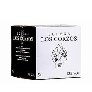Bag in Box 5L Vino Tintos Recomendado (Equivalente a 6,5 Botellas de 750 ml) vino tinto afrutado caja de vino con grifo de Bodegas Los Corzos
