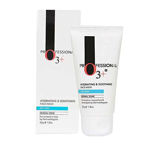 O3+ Hydrating Moisture Face Wash Cleanser with Aloe Vera and Cucumber Extracts Ideal for Normal to Dry Skin, 50g