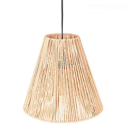 Hogar y Mas Lámparas de Techo para Salón, Modernas Colgantes. Lámpara Rústica de Cuerda, Color Beige. Decoración Etnica.