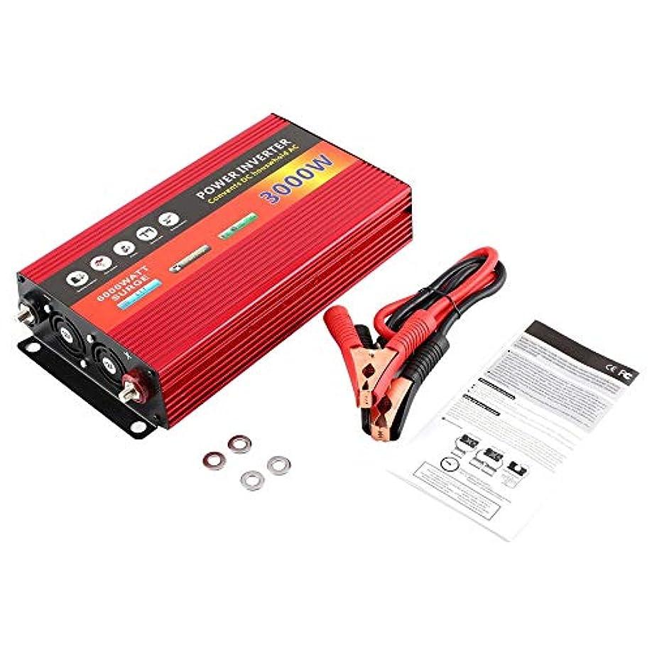 ビルマスリッパ演じる3000Wソーラー家庭用電源インバーター変圧器修正波力インバーターDC12VにAC 220Vコンバーター充電器 - 赤