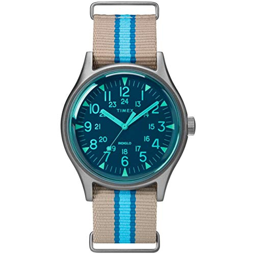 Timex MK1 Aluminum California Blue Dial Canvas Strap Men's Watch TW2T25300