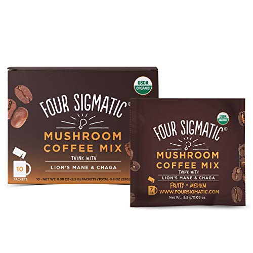 Four Sigmatic Mushroom Coffee with Lion's Mane & Chaga For Concentration + Focus, Vegan,...
