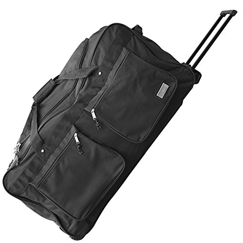 JEMIDI XXXL Reisetasche 128L Jumbo Trolley Sporttasche 3 Rollen Trolly Koffer Tasche