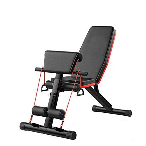 Fnova - Panca regolabile e pieghevole per esercizi addominali e per le braccia, inclinabile, attrezzatura fitness per la casa e la palestra, Stile 1, Other