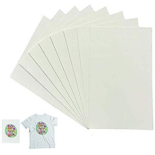 Yeelan 20 Sheets T Shirt Transfer Paper Inkjet Ferro su carta stampata di trasferimento abiti per tessuti leggeri e cotone (A4, 210 X 297mm)