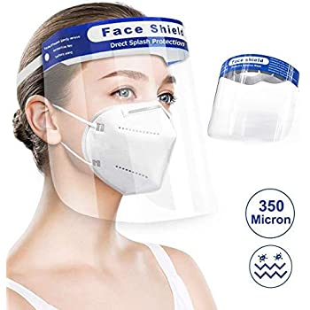 Clazkit - CFS350-2 Face Shield Safety Mask PET 350 microns, pack of 2