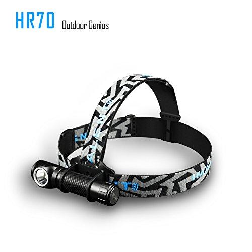 IMALENT HR70 - Linterna frontal recargable USB magnética CREE XHP70 LED de 3000 lúmenes desmontable