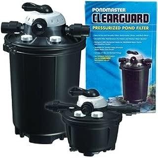 Pondmaster ClearGuard 5.5 Pressurized Filter for Ponds up to 5500 Gallons (No UV) with Exclusive BONUS Go Ponds Magnet Calendar 05620